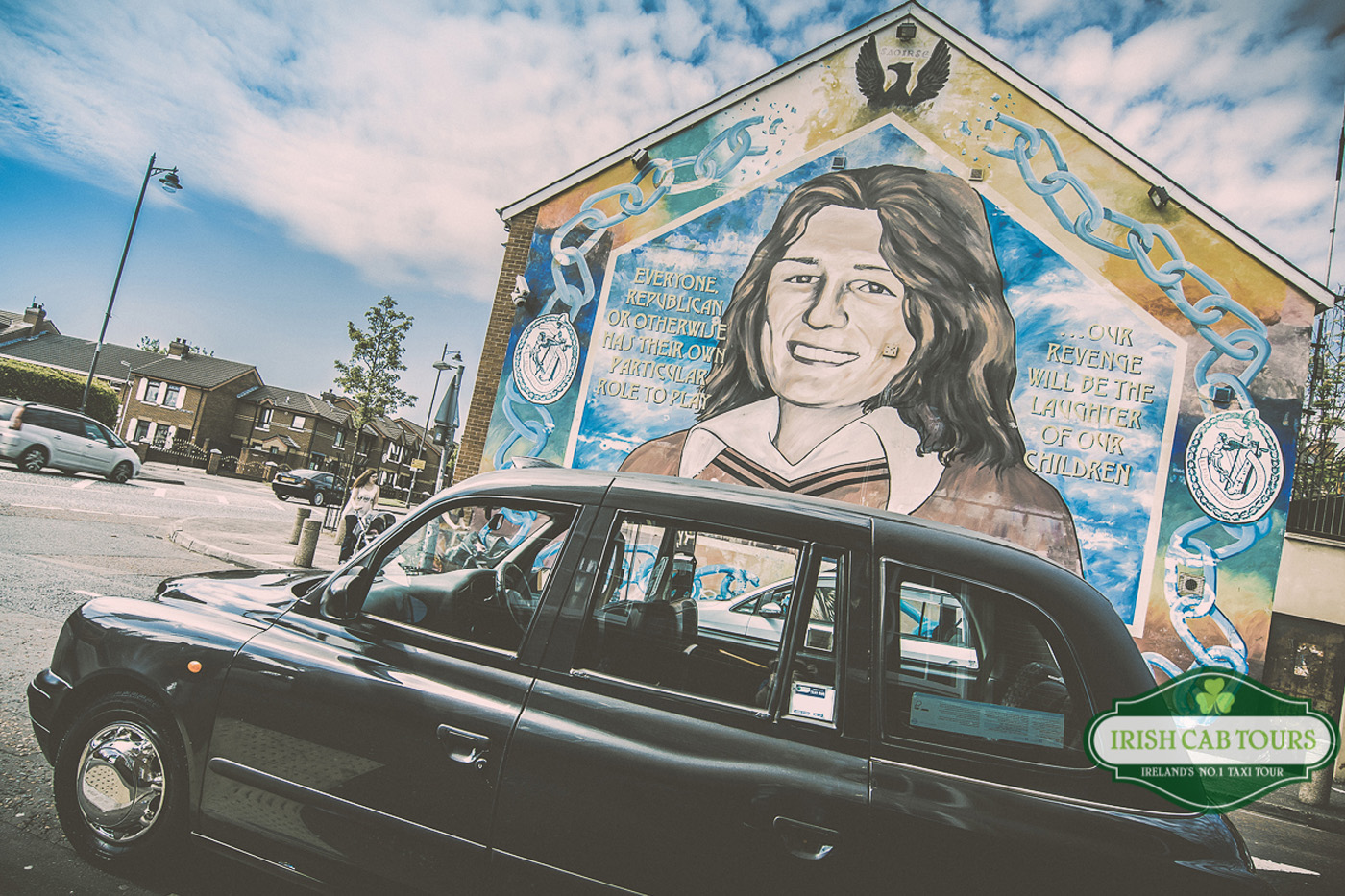 Black cab mural tour irish cab tours taxi tours for Belfast mural tours
